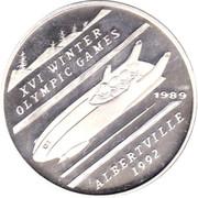 500 afghanis Jeux olympiques d'hiver Albertville 1992 – revers