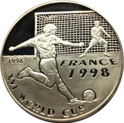 500 Afghanis (Coupe du monde de football France 1998) – revers