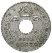 5 cents - George V – avers