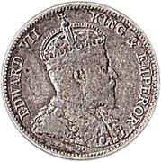 25 cents - Edward VII – avers