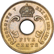 5 cents - George V -  avers