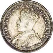 50 cents - George V -  avers