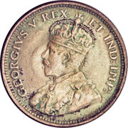 25 cents - George V – avers