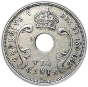 10 cents - George V -  avers