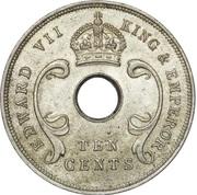 10 cents - Edward VII – avers