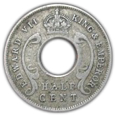 ½ cent - Edward VII -  avers
