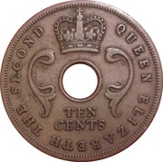 10 cents - Elizabeth II -  avers