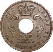 5 cents - Elizabeth II -  avers