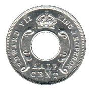 ½ cent - Edward VII – avers