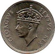 50 cents - George VI – avers