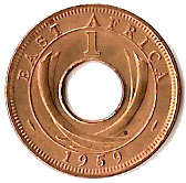1 cent - Elizabeth II -  revers