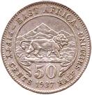 50 cents - George VI – revers