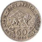 50 cents - Elizabeth II -  revers