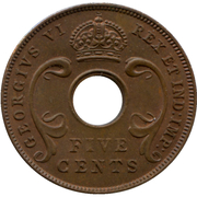 5 cents - George VI -  avers