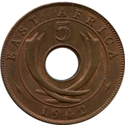 5 cents - George VI -  revers