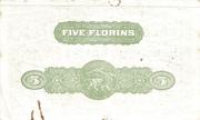 5 Florins – revers