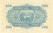 200 Shillings -  revers