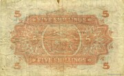 5 Shillings (India style serial) – revers