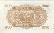 1 000 Shillings – revers