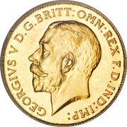 ½ souverain - George V – avers