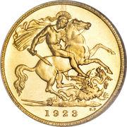 ½ souverain - George V – revers