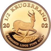 ½ krugerrand - Paul Kruger – revers