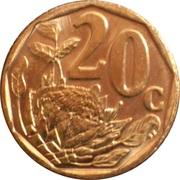 20 Cents (Légende en Swazi - Ningizimu Afrika) -  revers