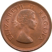 1 penny - Elizabeth II (1ere effigie) – avers
