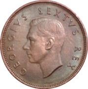 ½ penny George VI (South Africa - Suid Afrika) -  avers