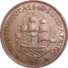 ½ penny George VI (South Africa - Suid Afrika) – revers