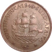 ½ penny George VI (South Africa - Suid Afrika) -  revers