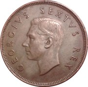 1 penny - George VI (SOUTH AFRICA - SUID AFRIKA) -  avers