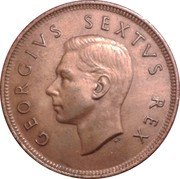 1 penny - George VI (SUID AFRIKA - SOUTH AFRICA) – avers