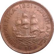 1 penny - George VI (SUID AFRIKA - SOUTH AFRICA) – revers