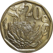 20 cents (SOUTH AFRICA - SUID-AFRIKA) -  revers