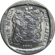 1 rand (SOUTH AFRICA - SUID-AFRIKA) -  avers