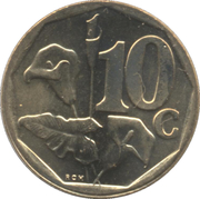 10 cents (en anglais - SOUTH AFRICA) -  revers