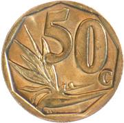 50 cents (en Tsonga et Swazi - Afrika Dzonga - Ningizimu Afrika) -  revers