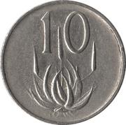 10 cents - Van Riebeeck  (en afrikaans - SUID AFRIKA) -  revers