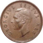 ¼ penny - George VI (SUID AFRIKA - SOUTH AFRICA) – avers