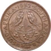 ¼ penny - George VI (SUID AFRIKA - SOUTH AFRICA) -  revers