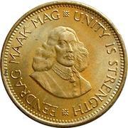 ½ cent - Van Riebeeck -  avers