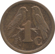 1 cent (SOUTH AFRICA - SUID-AFRIKA) -  revers