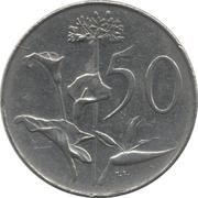 50 cents - Van Riebeeck (en anglais - SOUTH AFRICA) -  revers