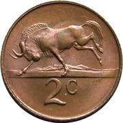 2 cents - Van Riebeeck (en anglais - SOUTH AFRICA) -  revers