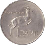 1 rand - Dr. Verwoerd (en Afrikaans - SUID AFRIKA) -  revers