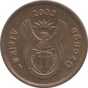 5 cents (en tsonga - AFRIKA DZONGA) -  avers