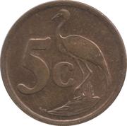 5 cents (en tsonga - AFRIKA DZONGA) -  revers