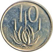 10 cents - Charles Swart (en anglais - SOUTH AFRICA) – revers