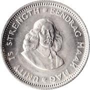 5 cents - Van Riebeeck -  avers